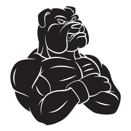 Bulldog strong mascot Tattoo Illustration
