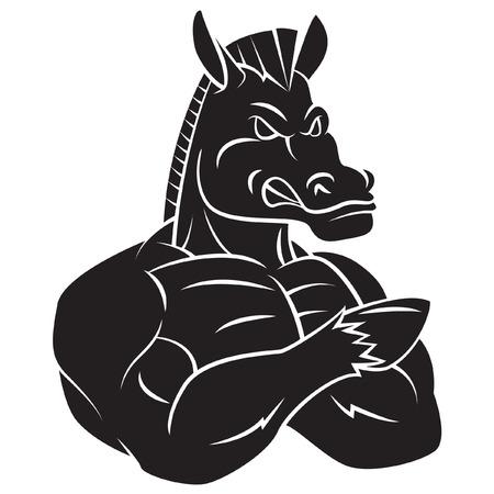 Horse Strong Mascot Tattoo