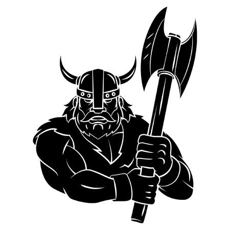 espadas medievales: Vikingo Axe tatuaje Vectores