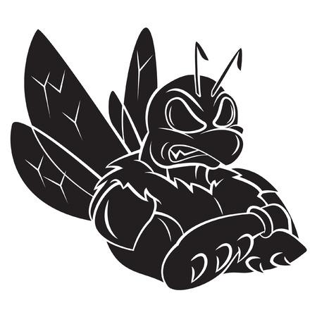 Bee Strong Mascot Vector