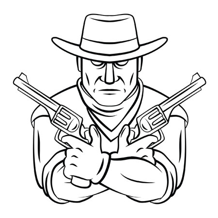 cowboy gun: Cowboy Mascot