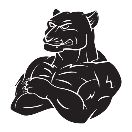 mascots: Panther Strong Mascot Tattoo