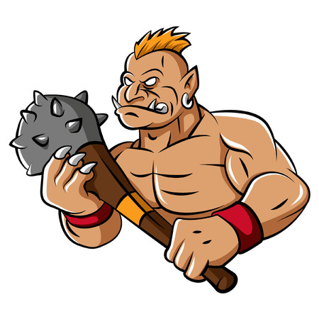 Troll Mascot Illustration