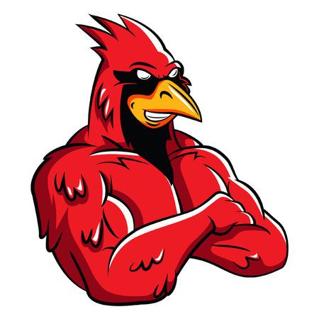 Hoofd Vogel Mascot Stock Illustratie