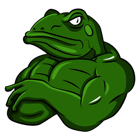 strong: Frog Strong Mascot
