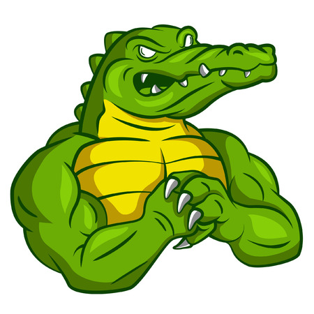 are strong: Crocodile Strong Mascot