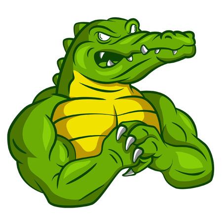 Crocodile Strong Mascot