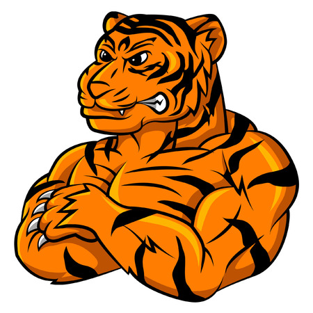 white tigers: Tiger Strong Mascot