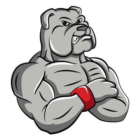 angry dog: Bulldog strong mascot