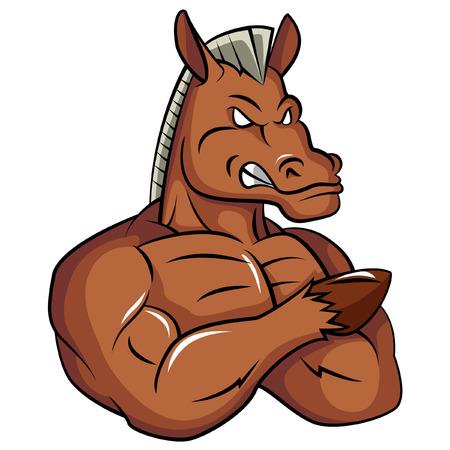 Horse Strong Mascot Archivio Fotografico - 36229777