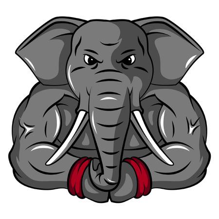 elephant angry: Elephant Mascot