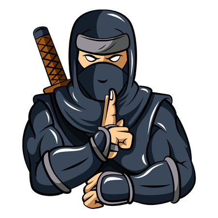 weapons: Ninja Mascot Illustration