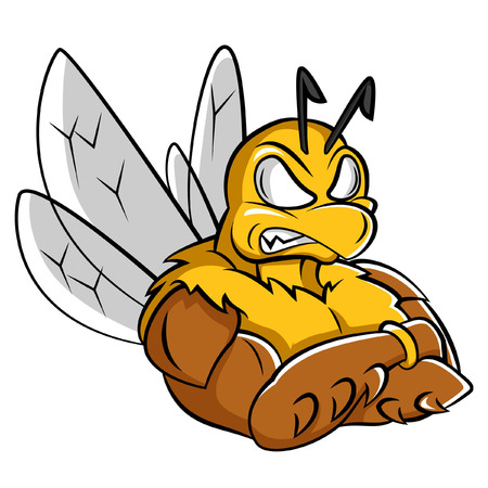 Bee Strong Mascot Vector