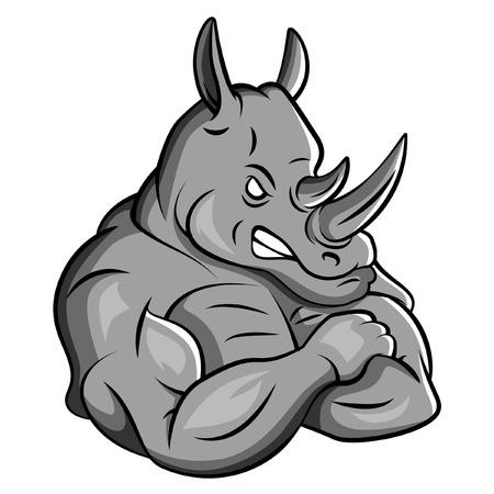 rhino: Rhino Strong Mascot