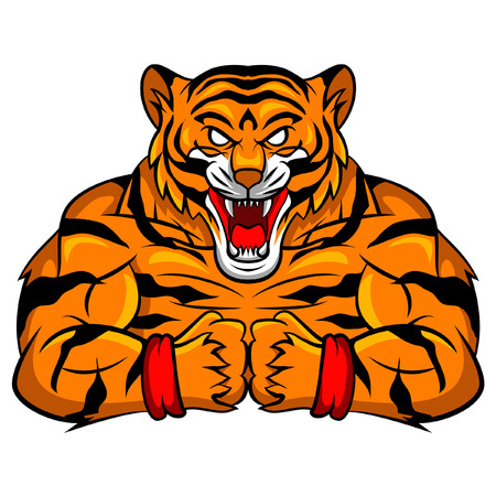 Tiger Strong Mascot