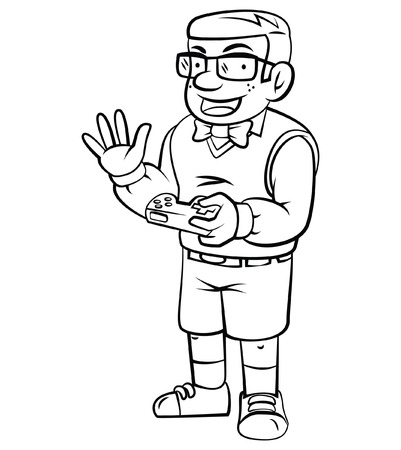 gamer: Gamer nerd illustration  Illustration
