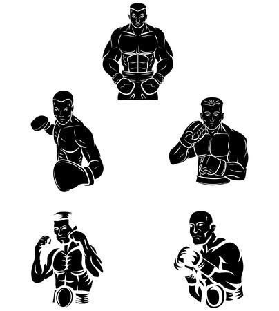 ボクサーのタトゥーのシンボル  イラスト・ベクター素材