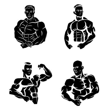 Tattoo Symbol Of Body Builder Vectores