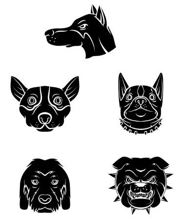Tattoo Symbol Of Dog Head Illustration