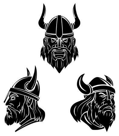 バイキングのタトゥーのシンボル  イラスト・ベクター素材