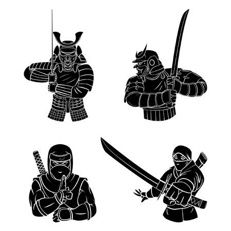 samurai sword: Samurai and Ninja
