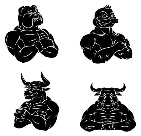 british bulldog: Bulldog,Duck,Bull and Bull Tattoo Collection