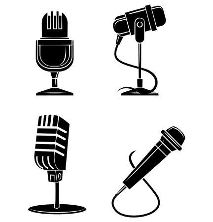 microfono antiguo: Micrófono Símbolo