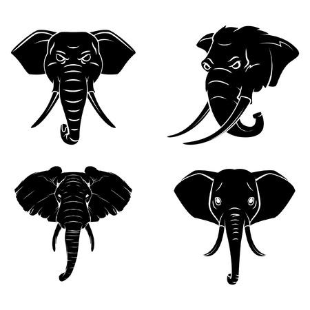 siluetas de elefantes: Elephant Head Tattoo