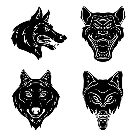 black and white wolf: Wolf Head Tattoo
