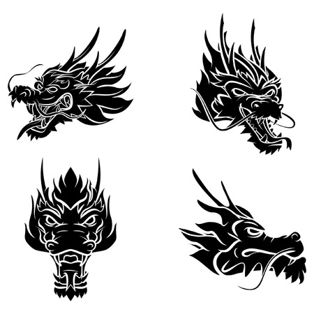 dragon illustration: Dragon Head