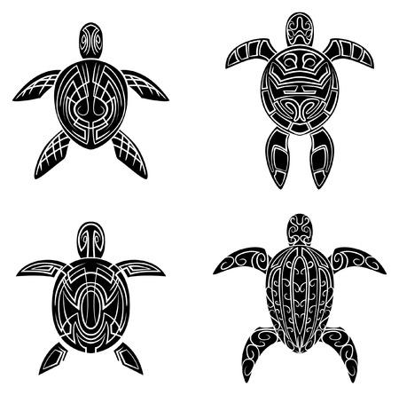 Turtle Tattoo Vector