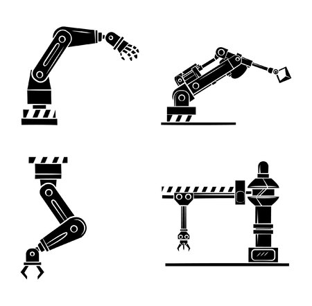 mecanica industrial: S�mbolo de la mano rob�tica