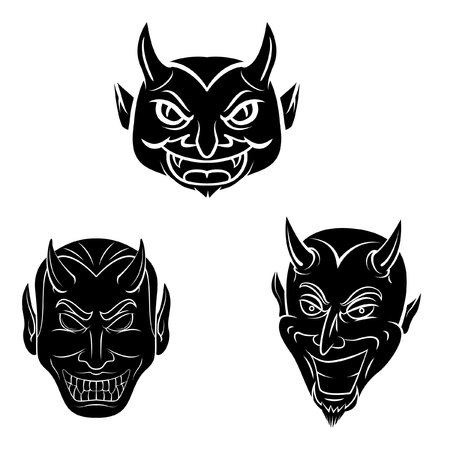 Devil Head Tattoo Collecction Illustration