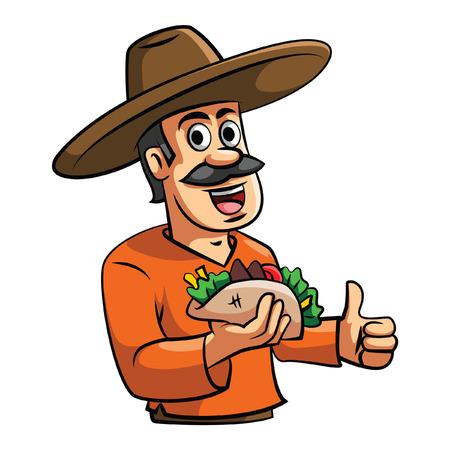 Chef Taco illustratie Stock Illustratie
