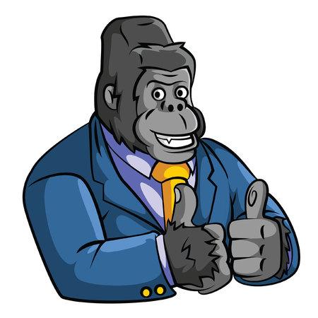 monkey suit: Gorilla Business Illustration