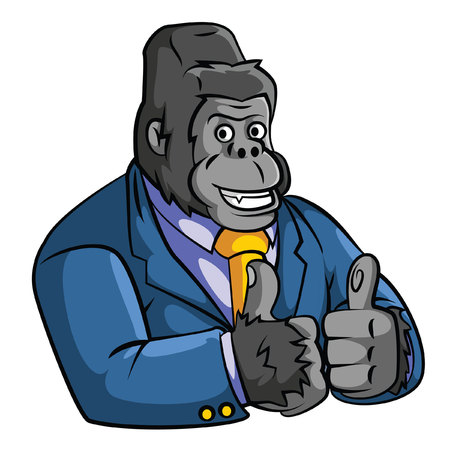Gorilla Business Illustration