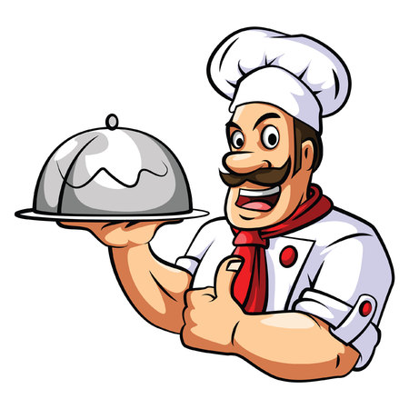 Chef on white Vector