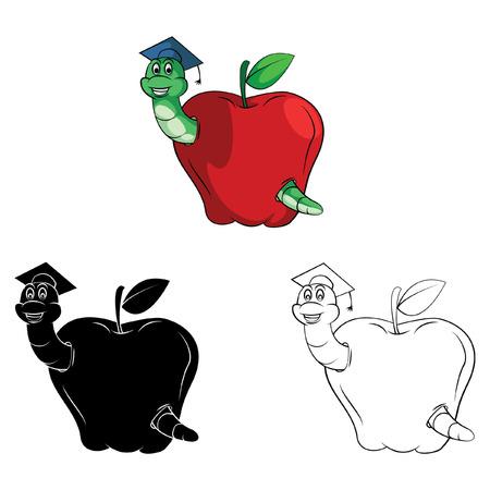 Libro Para Colorear Fuerte Personaje De Dibujos Animados De Apple ...
