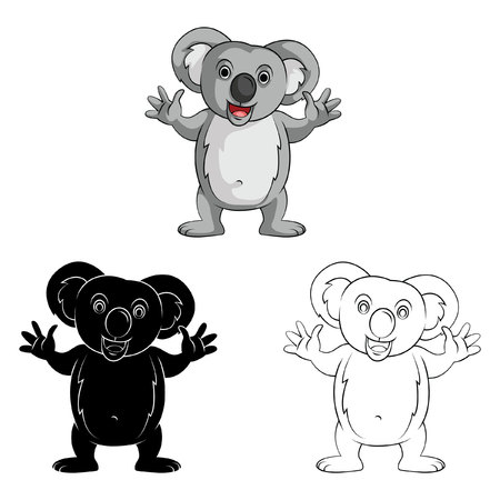 Coloring book Koala Doll cartoon character - vector illustration Vector