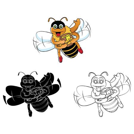 Libro Para Colorear Niño Enojado Personaje De Dibujos Animados