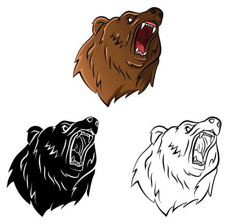 Este Diseño Del Oso Grizzly Sería Grande Para Cualquier Escuela ...