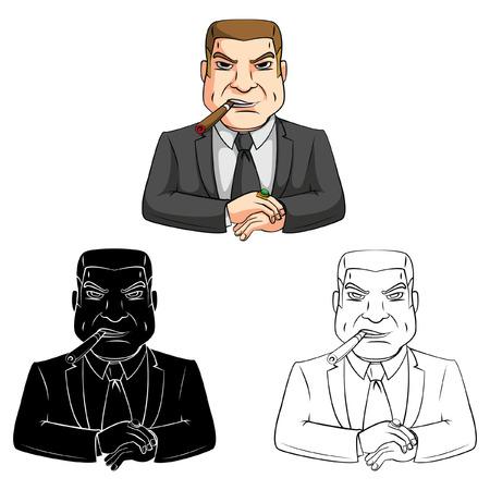 boss cartoon: Coloring book Big Boss cartoon character