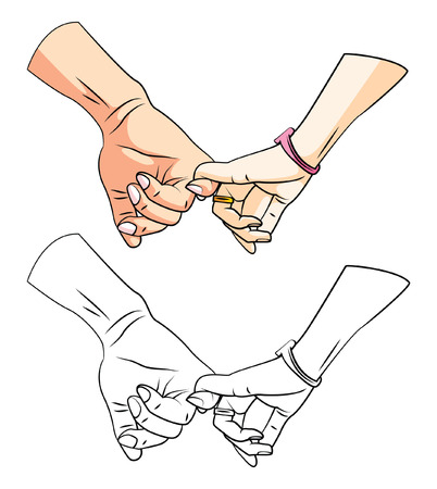 Coloring book RelationShip Hand cartoon character Illustration
