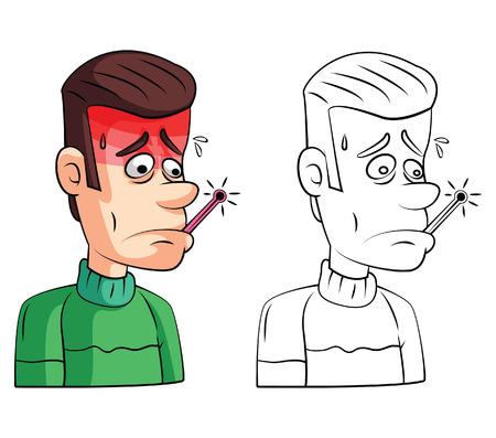 check book: Coloring book Fever Check cartoon character
