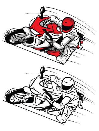 Coloring book Moto Sport cartoon character