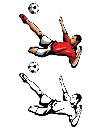 Coloring book foot ball player cartoon character Vector
