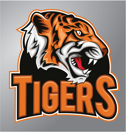 Tigres mascotte Banque d'images - 40401047