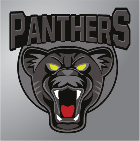 saber tooth: Panthers mascot Illustration