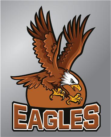 Eagles-Maskottchen Standard-Bild - 40527817