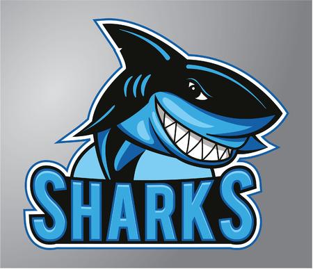 cartoon shark: Sharks Mascot Illustration